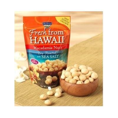 MacFarms Fresh from Hawaii Dry Roasted Macadamia Nuts with Sea Salt, 1Pack (24 oz Each)