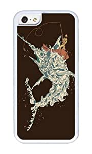 Apple Iphone 5C Case,WENJORS Uncommon Cold Blooded Ocean Soft Case Protective Shell Cell Phone Cover For Apple Iphone 5C - TPU White