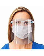 Safety Face Shield, 2 Pack Reusable Goggle Shield Face Visor Transparent Anti-Fog Layer Protect Eyes from Splash