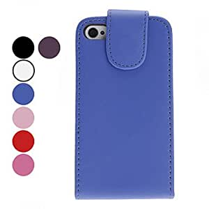 YXF Simple Style PU Leather Case for iPhone 4 and 4S (Assorted Colors) , Pink