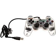 Arsenal Gaming AP3CON3C Wired Controller, Clear with Lights - PlayStation 3