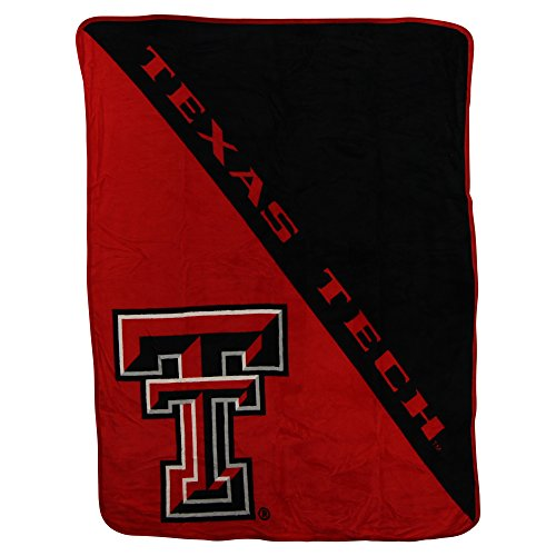 The Northwest Company NCAA Collegiate Half Tone Super Soft Plush Throw Blanket (Texas Tech Red Raiders)