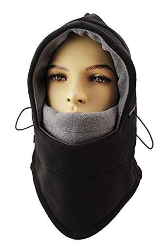 (KSKG Balaclavas Hat Winter Windproof Warm Fleece Face Ski Mask Double Thicken Caps Hood for Men & Women)
