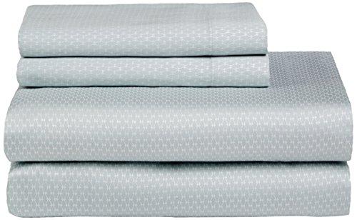 Calvin Klein Flat Sheet (Calvin Klein Home Nightingale Silver Net Sheet Set, King, Sea Mist)