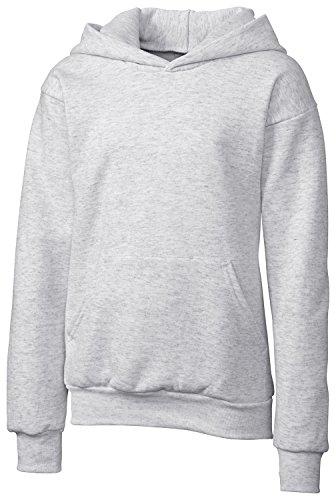 Clique Big Girls Comfortable Fleece Pullover Hoodie, Ash, Medium
