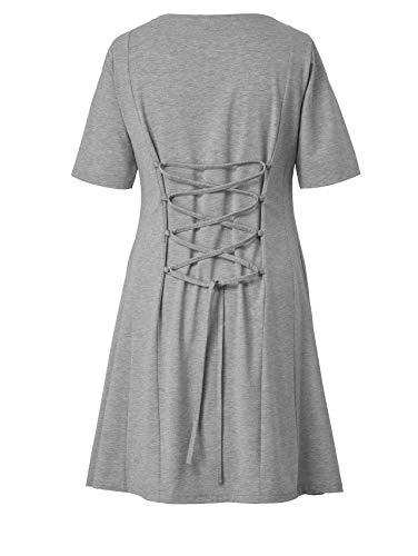 Damen of Keine by Style Kleid Jersey Nicht relevant Angel Grau qEdc11