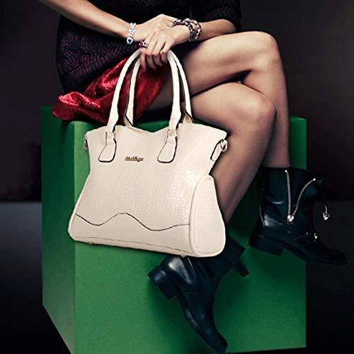 57ee7ef0985d0 ... Luxus Leder 6 6 6 Stücke Set Art und Weise Frau Composit Beutel-große  Kapazitäts ...