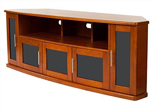 (Plateau NEWPORT80W Corner Wood TV Stand with Walnut Finish, 80-Inch)