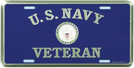 Honor Country US Navy Veteran License Plate ()