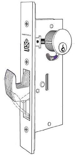 - Adams Rite MS1850SN-450 Deadbolt for Wood or Hollow Steel Doors (1-1/2