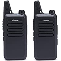 Walkie Talkies LT-316 Outdoor Camping Hiking Hunting Uhf Mini Walkie Talkies 3 Watts Output 5-10 Miles Range Micro Usb Charging Amateur Two Way Radio (Pair) (Black)