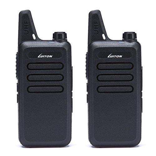 LUITON UHF Walkie Talkies Car Electronics Two-Way Radios For Car Rechargeable Long Range Outdoor Hiking Hunting UHF Walkie Talkies USB Charging Amateur Two Way Radio LT-316 Black (1 Pair) by LUITON