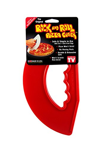 Rock'n Roll Pizza Cutter Red