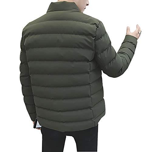 Parka Winter Men's Coat Fashon Stand Jacket Solid Male Collar LISUEYNE Parka Man Green wX1H5q5d