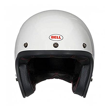 Helmet bell custom 500 dlx vintage solid white m