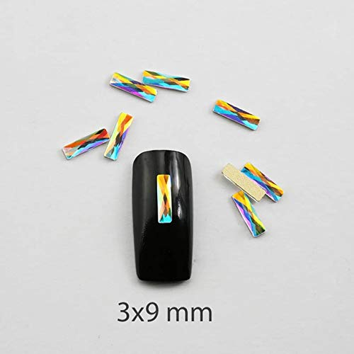 Nail Art Accessories - Nail Rhinestones 20Pcs/Pack Flat Shaped Elongated Teardrop Rectangle Glass Flame Colorful Stones For 3D Nails Decoration - Shapes -