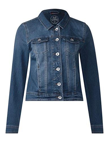 Mid Femme Jean Wash One Blue 11414 Bleu En Street Veste authentic OI0qw