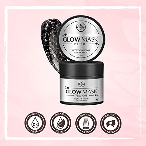 41rul5uGt6L The Beauty Co. Activated Charcoal Glitter Glow Mask, 20 g