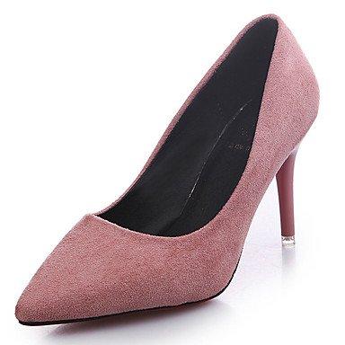 LvYuan Mujer Sandalias PU Primavera Verano Tacón Stiletto Negro Gris Rojo Rosa 7'5 - 9'5 cms ruby