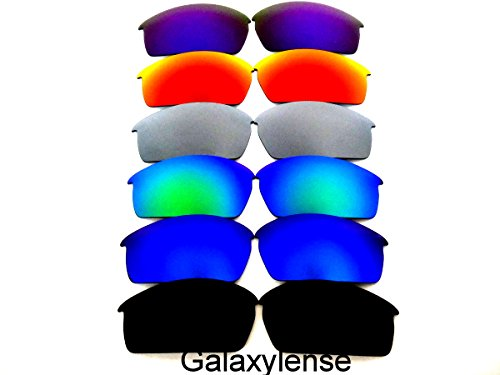 Replacement Lenses For Oakley BottleCap Black&Blue&Green&Gray&Red&Purple,6 Pair
