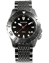 Pantor Seahorse 1000m Big Size 45mm Pro Automatic Dive Watch with Helium Valve Rotating Bezel Sapphire extension...