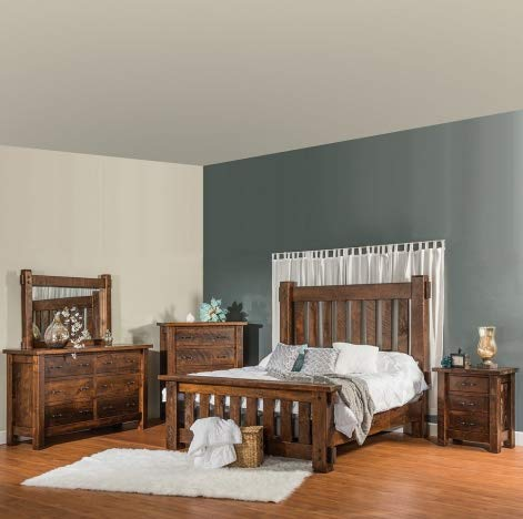 Amazon.com: Cabinfield Houston Amish Bedroom Set, Rough Sawn ...