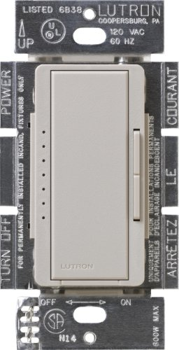 (Lutron MSCELV-600M-TP Maestro 600-watt Electronic Low Voltage Multi-Location Digital Dimmer, Taupe)