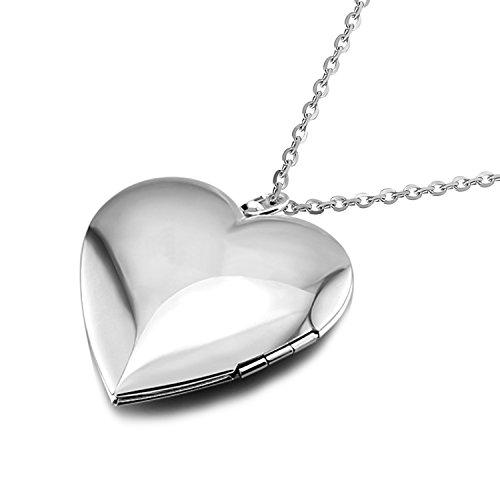 Silver Skull Locket Necklace - 1