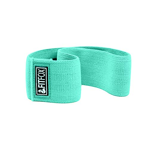 FITFOX Non-Slip Hip Resistance Bands & Carrying Bag - Booty Bands for Legs, Glute, Squats and Thigh Workout (Mint, S/M)