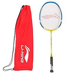Li-Ning XP 60 Badminton Racquet (Lime/Grey) ( Pack of 2 )