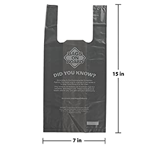 Bags on Board Extra Thick Hand Armor Dog Waste Bags, 7x15 in, 100 bags