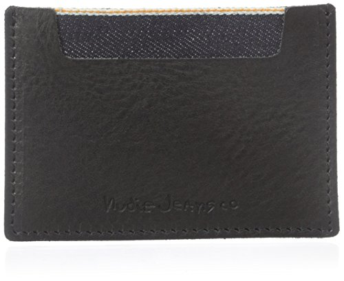 nudie-jeans-mens-ivansson-selvage-and-leather-card-holder-black-one-size