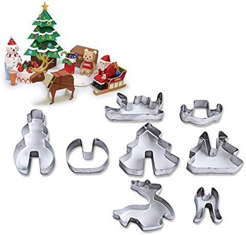 ACHICOO 粘土作りツール かわいい クリスマスシリーズ クッキー金型 グッズセット 子供 大人