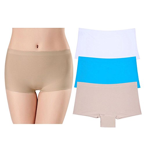Vipex Womens 3 Pack Sheer Boyshort Yoga Bike Shorts(BS103,M)