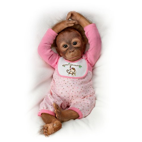 Leila S Loving Touch Baby Monkey Doll By Ashton Drake