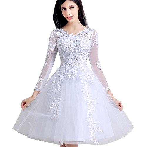 Favebridal Tulle A-Line Short Wedding Dress for Women SQ16121WT-US8
