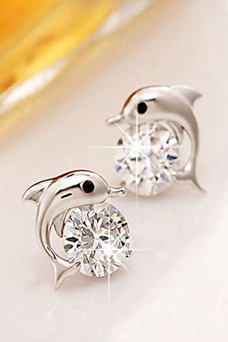 Amazon Com Unique Dolphin Diamond Earrings Earings Dangler Eardrop Fashion Star Silver Ladies Fashion Tide Models Arts Crafts Sewing