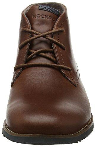 Rockport Ledge Hill Too, Botas Chukka para Hombre Brown (tan Leather)