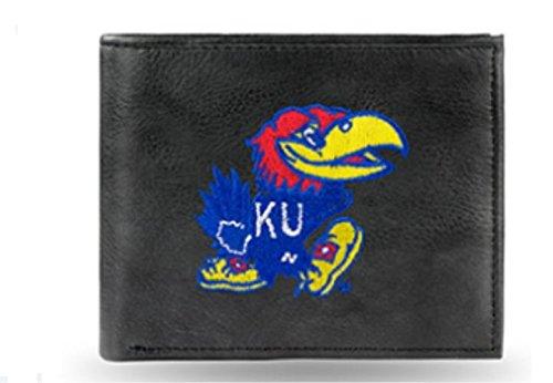 NCAA Kansas Jayhawks Embroidered Leather Billfold Wallet