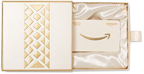 Amazon.ca $100 Gift Card in a Gold Gift Box (Gold Smile Card Design)