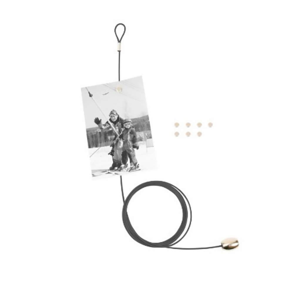 NiceButy Metallo Leggero Portafoto Bel ricordo Photo Card Clip del Supporto Photo Display Forniture con 8 magneti d'Argento Prodotti per la casa