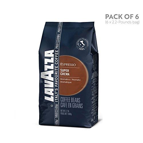 Lavazza Super Crema Espresso Beans - 2.2lb Bags (Case of 6)