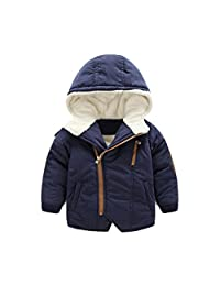 Mud Kingdom Little Boys Hoodie Coat Fur Lined Zip-up Warm Winter Outerwear
