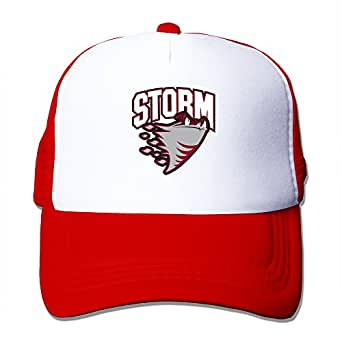 Red HGLENice Guelph Storm Unisex Adjustable Baseball Mesh Cap One Size