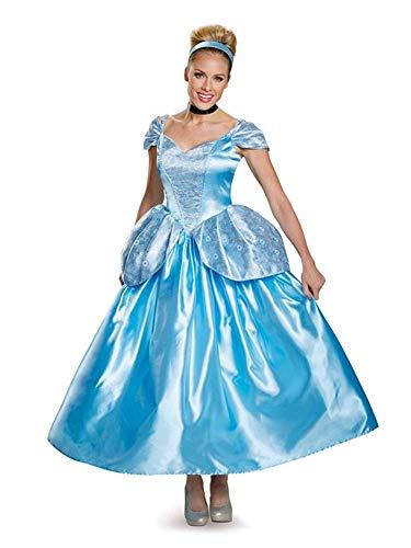 Disguise Women's Cinderella Prestige Adult Costume, Blue, Medium ()