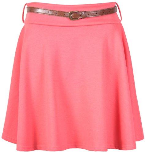 Purple Hanger Falda corta para mujer, con cinturón Koralle