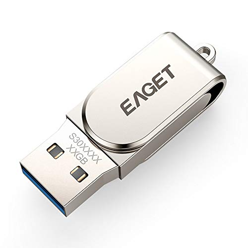 Eaget S30 USB 3.0 Flash Drive USB Pen Drive Metal Mini Pendrive USB Key Flash Memory Stick (64GB) by Eaget (Image #1)