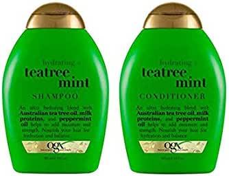 OGX Unisex Tea Tree Mint Hydrating Color Hair Shampoo & Conditioner, 384 ml