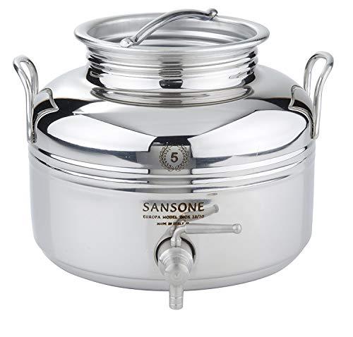 Sansone Stainless Steel Fusti Water Cooler, Silver (Renewed)