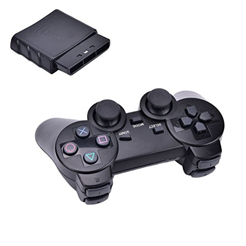 New Black Wireless Shock Game Controller for Sony PS2 BDUS